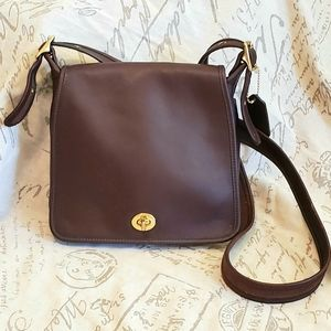 Vintage Coach Leather Crossbody Companion #9715